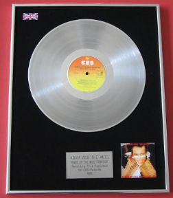 ADAM & THE ANTS - Kings Of The Wild Frontier PLATINUM LP presentation Disc